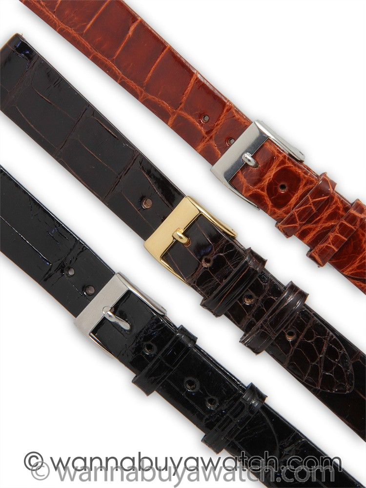 Fine Alligator Gloss Finish Strap 20mm