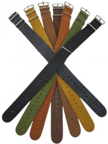 Nato Style Spanish Leather Straps 20mm