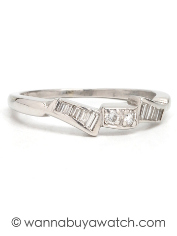 Platinum Partial Eternity Band