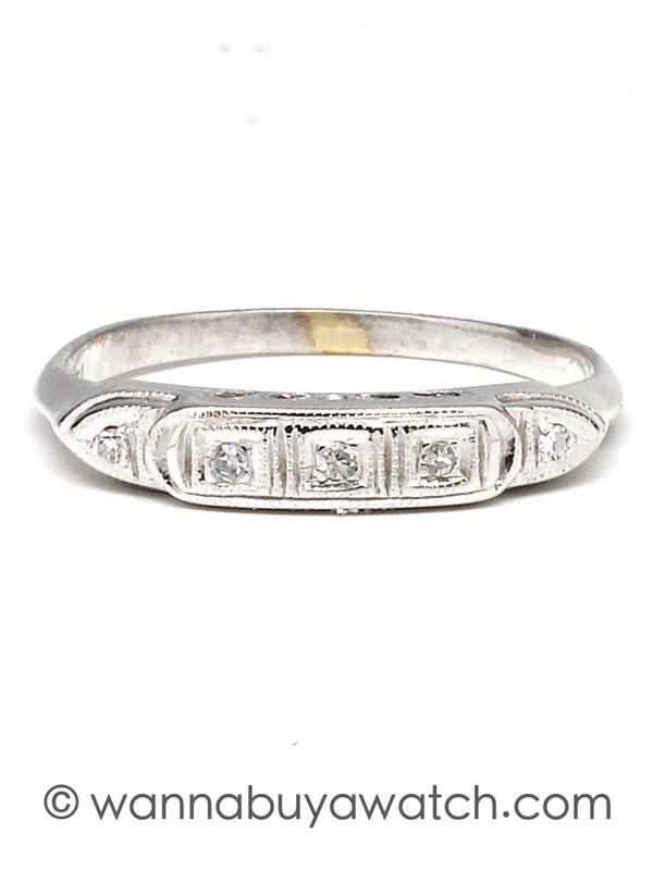 White Gold 5 Diamond Band