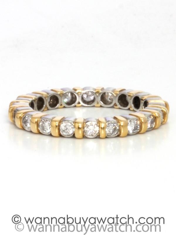 Platinum/18K YG diamonds