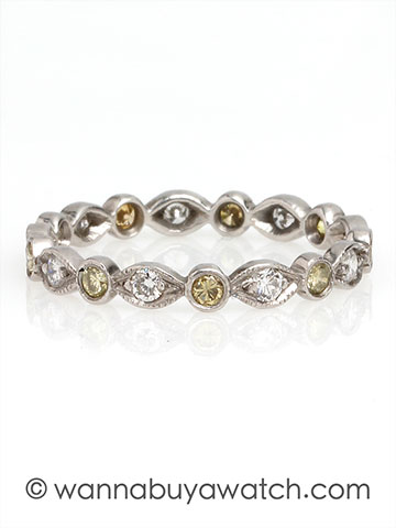 Platinum with White & Yellow Diamonds