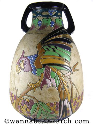 """Amphora Teplitz """"Campina"""" 1920's"""