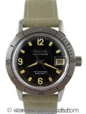 "Bulova Snorkel ""666"" Diver's ref 386 1950's"
