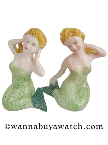 Vintage Mermaid Salt & Pepper