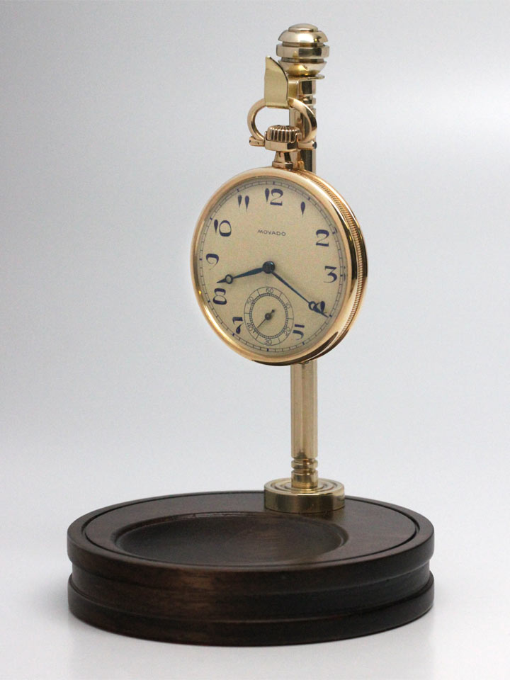 Hand Made Pocket Watch Stand Walnut & Polished Brass
