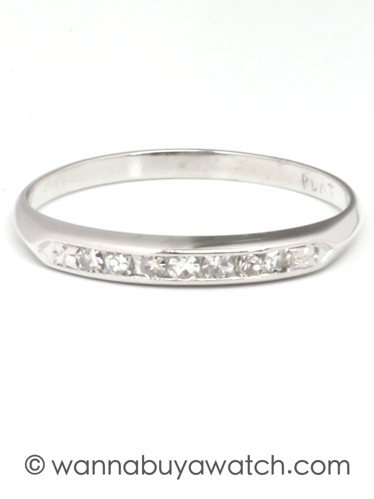 Partial Eternity Band Platium circa 1930's