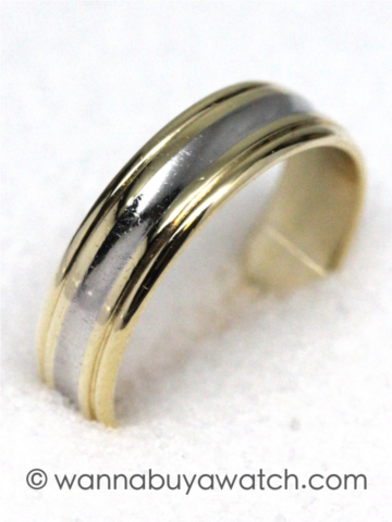 18K YG/ Platinum Wedding Band