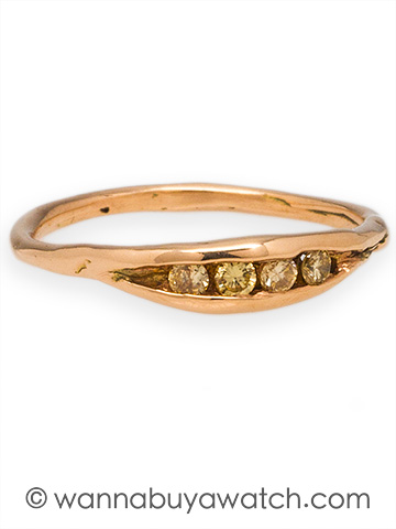 Liza Shtromberg 14K Pink Gold & Yellow Diamonds