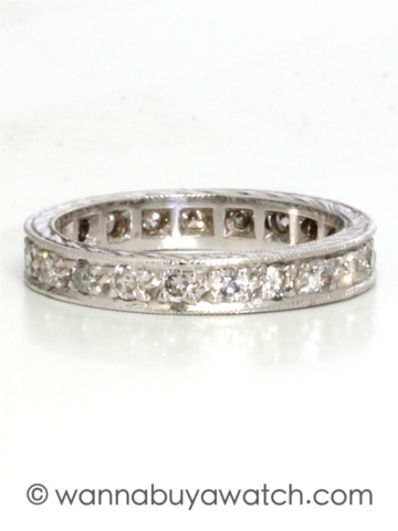 Vintage 14K WG Diamond Eternity
