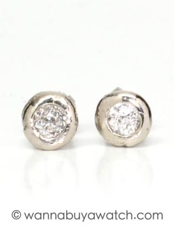 14K WG & 0.30ctw Diamond Studs