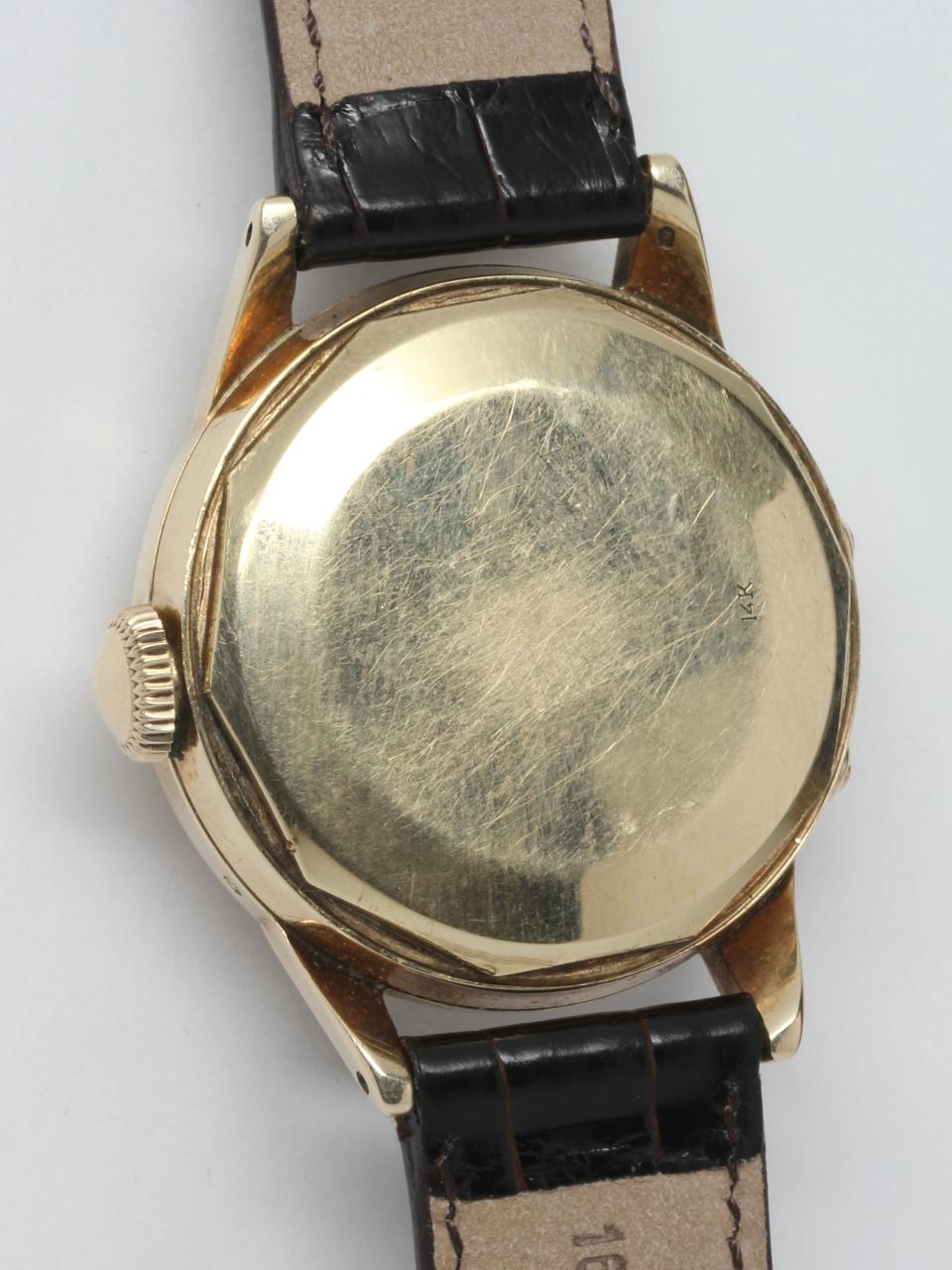 Movado 14K YG Calendomatic circa 1950's
