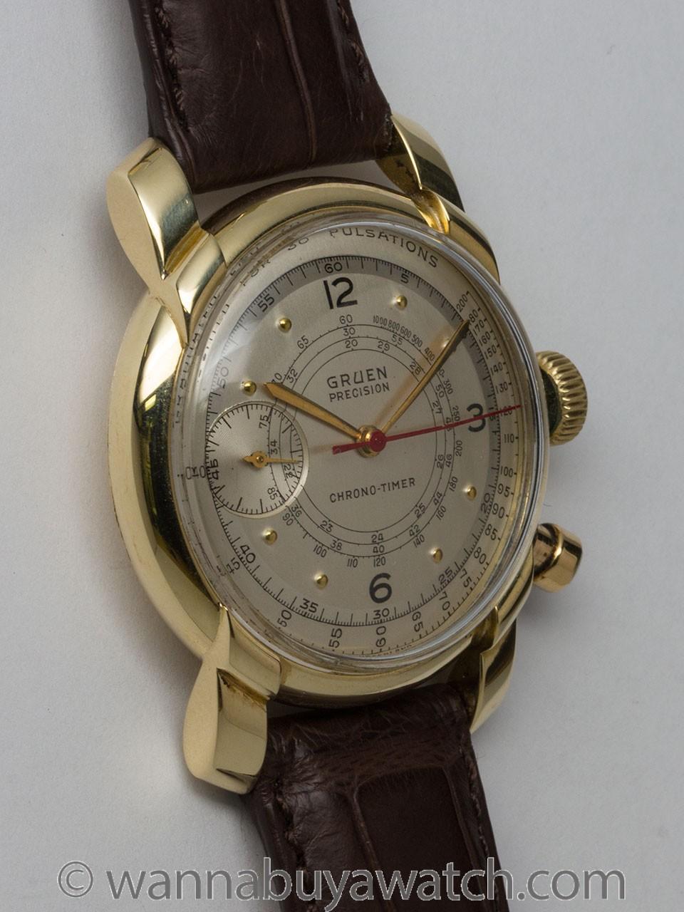Gruen 14K YG Chron-O-Timer circa 1940's