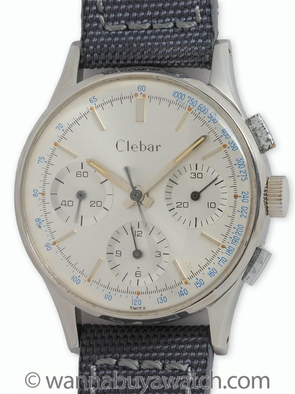 Clebar SS Chronograph circa 1950's
