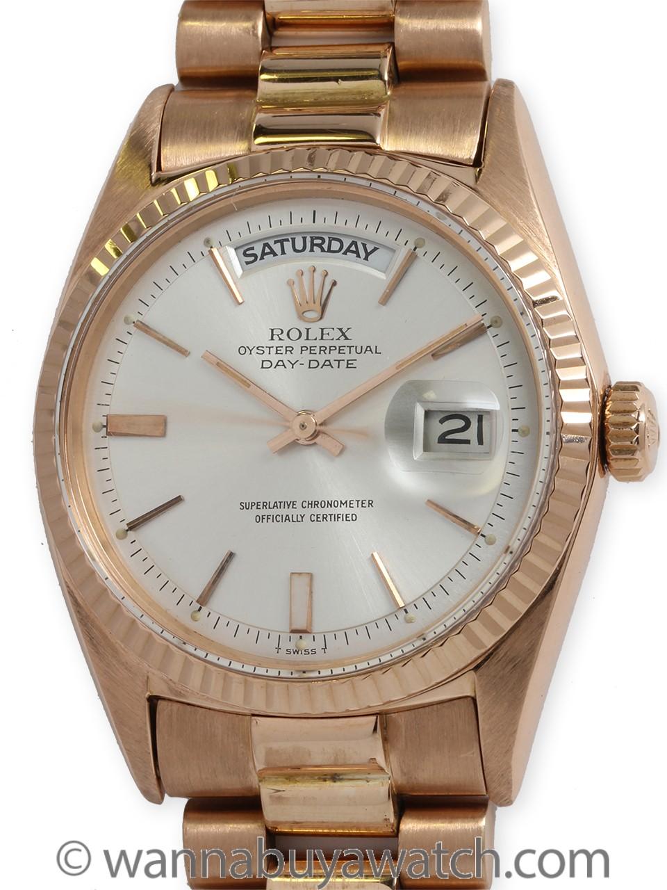Rolex 18K PG Day Date President ref 1803 circa 1965