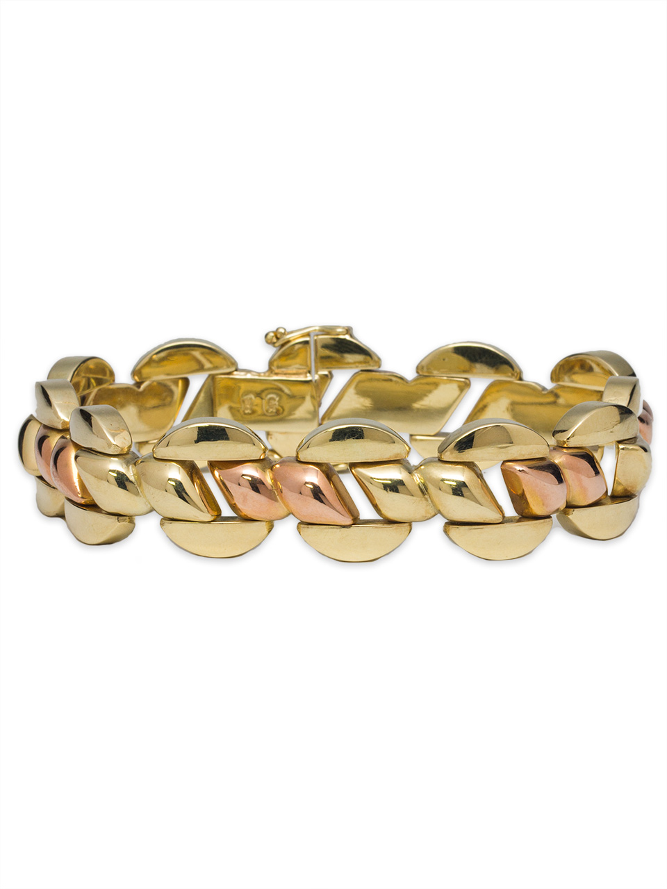 Retro Bracelet 14K Yellow & Rose Gold circa 1940's