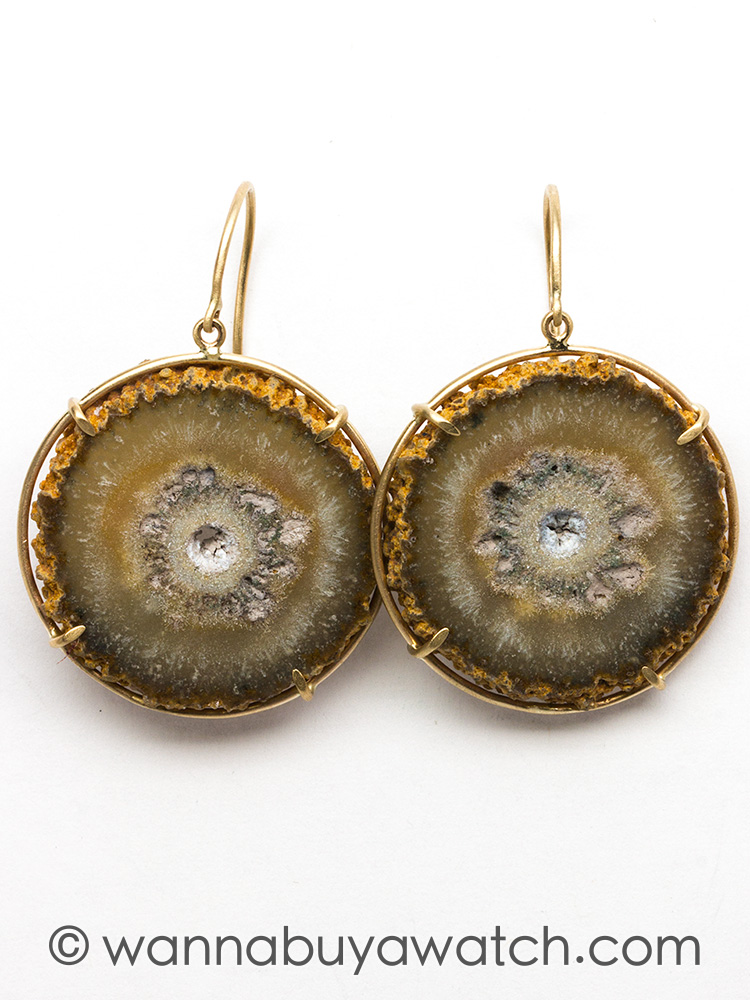 14K YG Stalactite Earrings