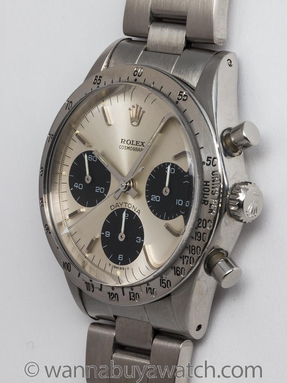 Rolex SS Daytona ref 6262 circa 1968 Service Papers