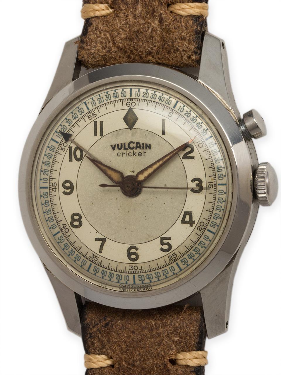 Vulcain SS Cricket Alarm circa 1950's