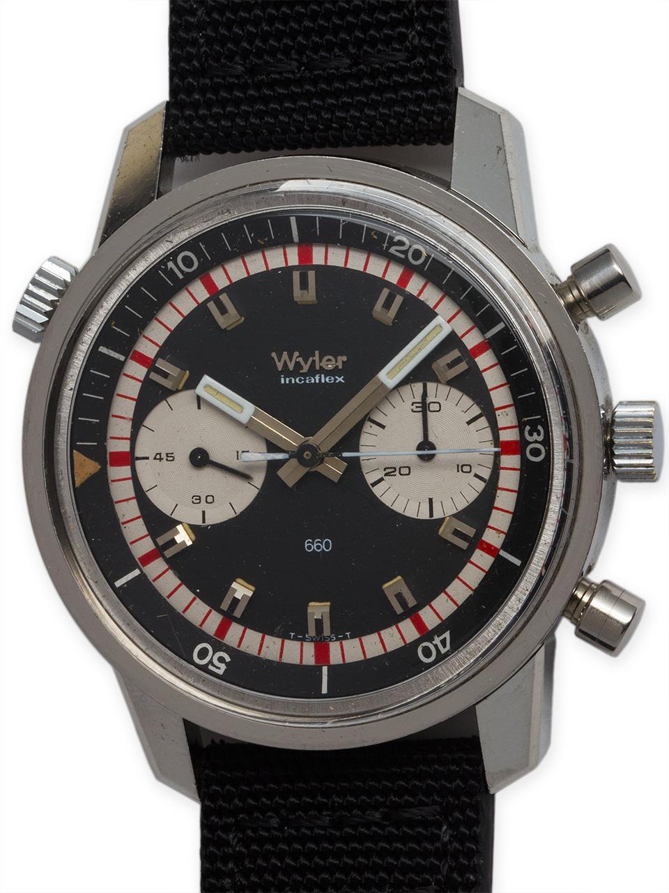 "Wyler ""Lifeguard"" Chronograph ""Paul Newman"" circa 1960's"