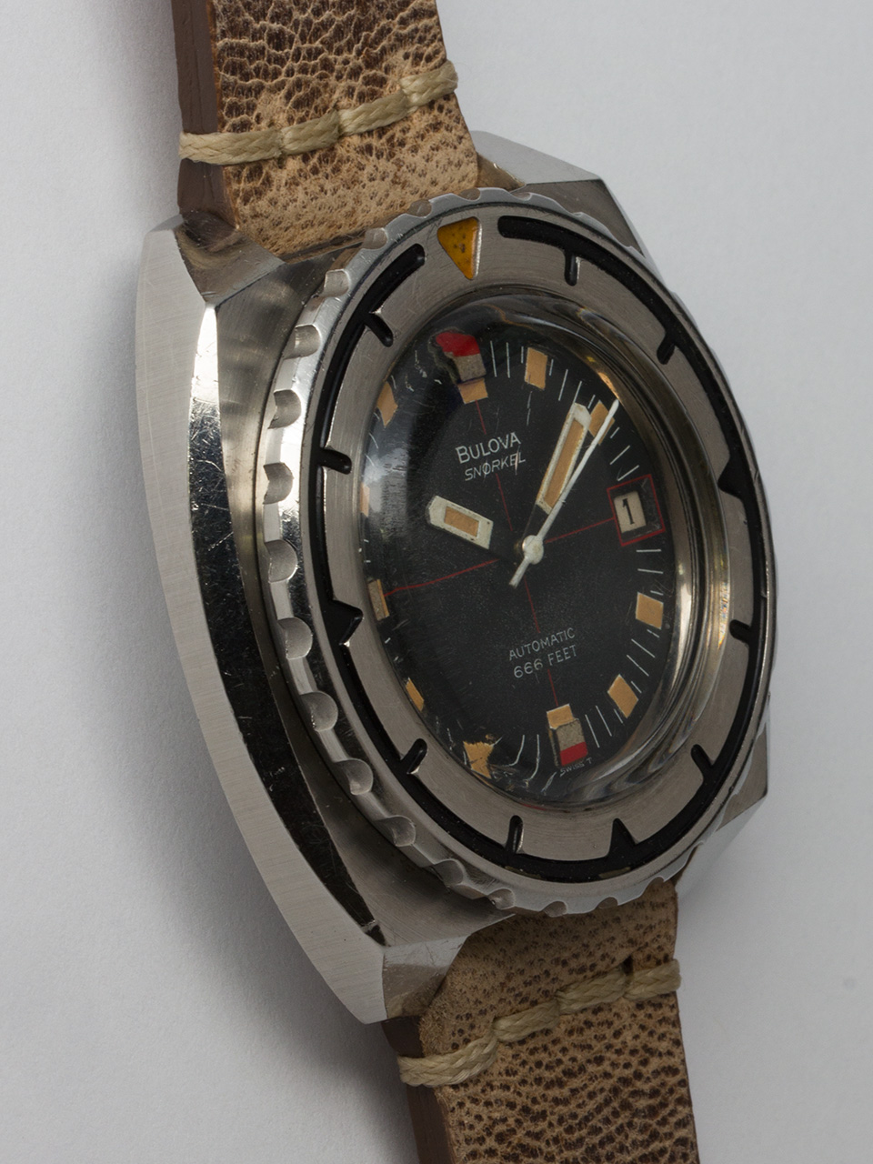 Bulova Snorkel Diver's Stainless Steel circa 1970