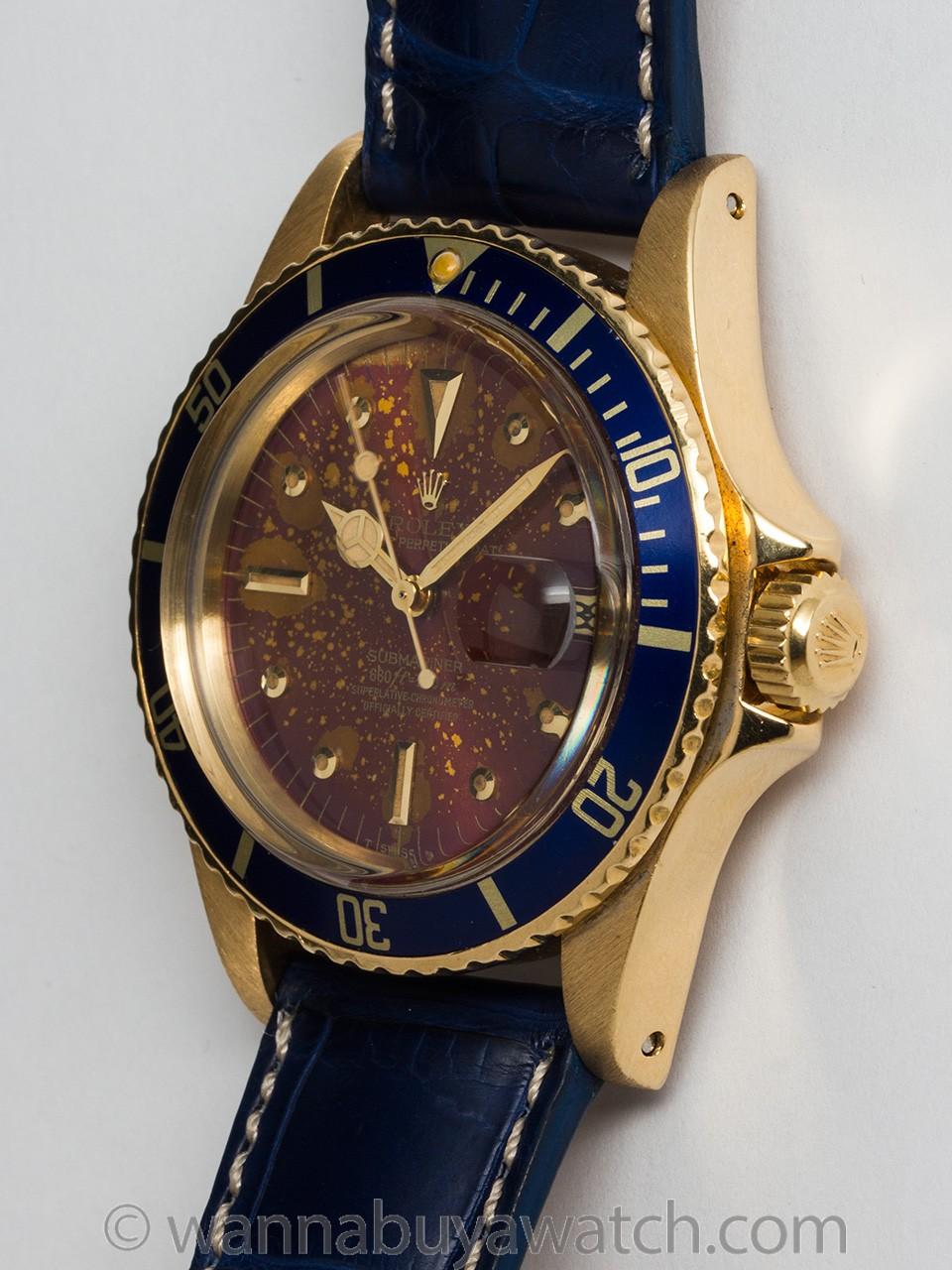 "Rolex Submariner ref 1680 18K YG circa 1978 ""Cosmos"""