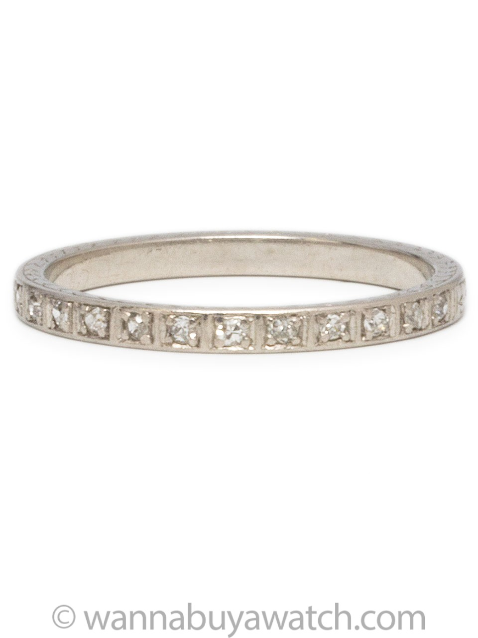 1920's Platinum Diamond Band 6.75