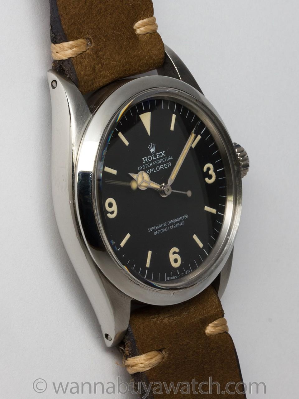 Rolex SS Explorer 1 ref 1016 circa 1969