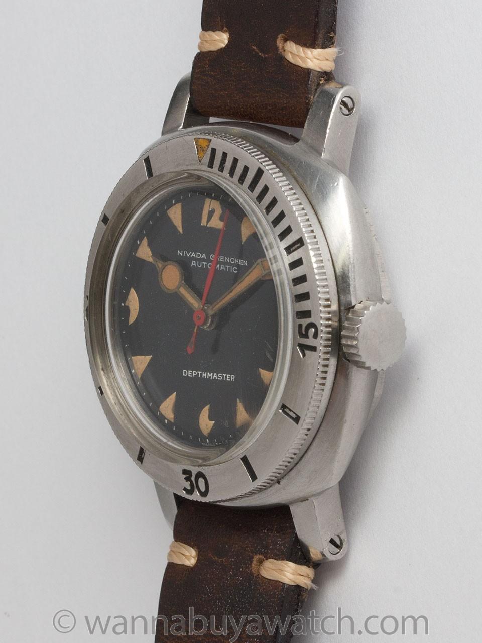 Nivada Grenchen Dephthmaster Diver's circa 1960
