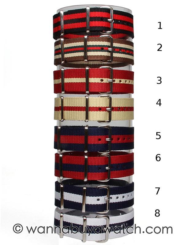 NATO Style Watch Strap 20mm B