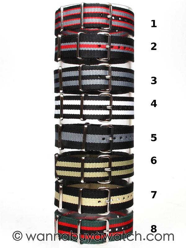 NATO Style Watch Strap 20mm E