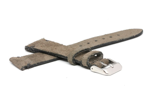 Distressed Suede Finish Spanish Leather Strap 20mm
