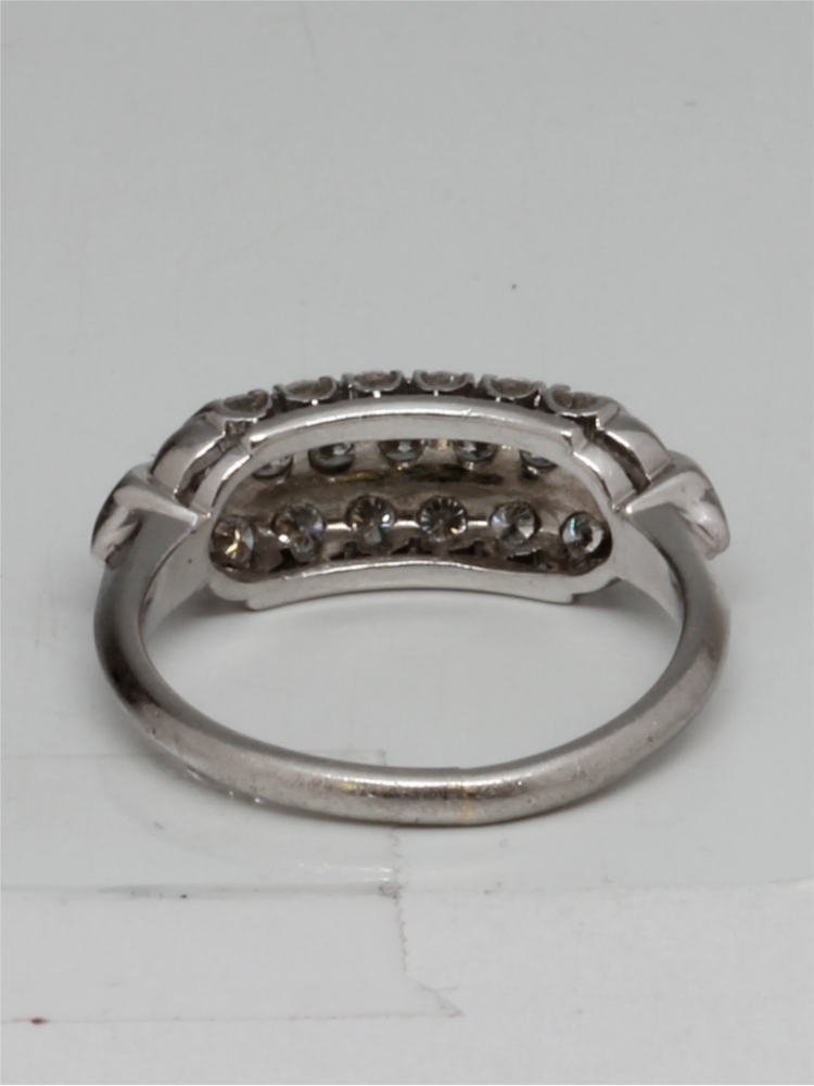 Vintage Three Row Platinum Diamond Band 0.75ct circa 1940s