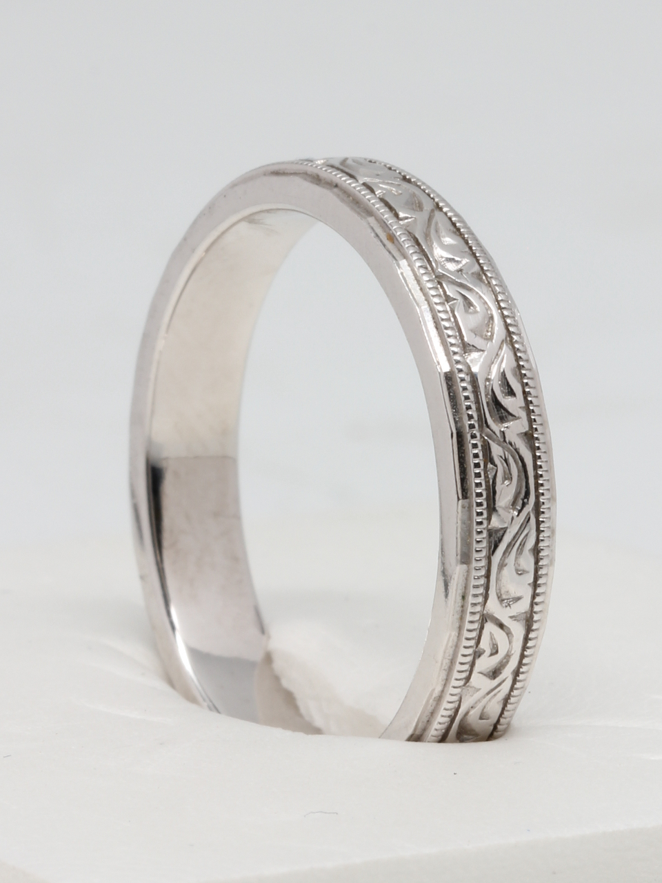 Handmade Platinum Wedding Band