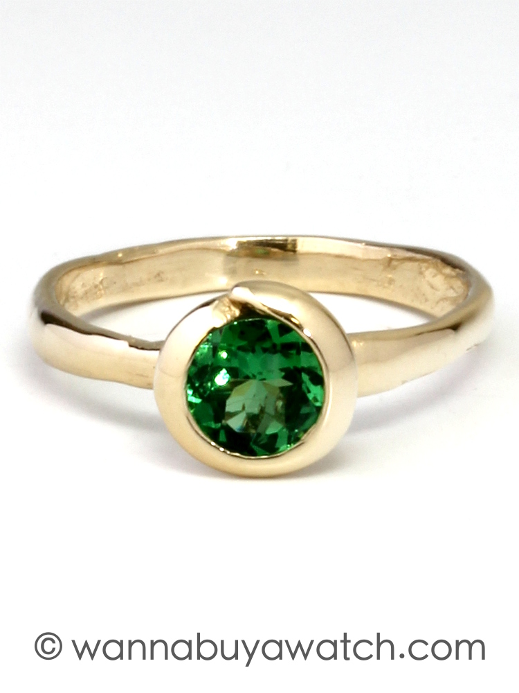 14K Yellow Gold & Tsavorite Garnet Ring by Liza S