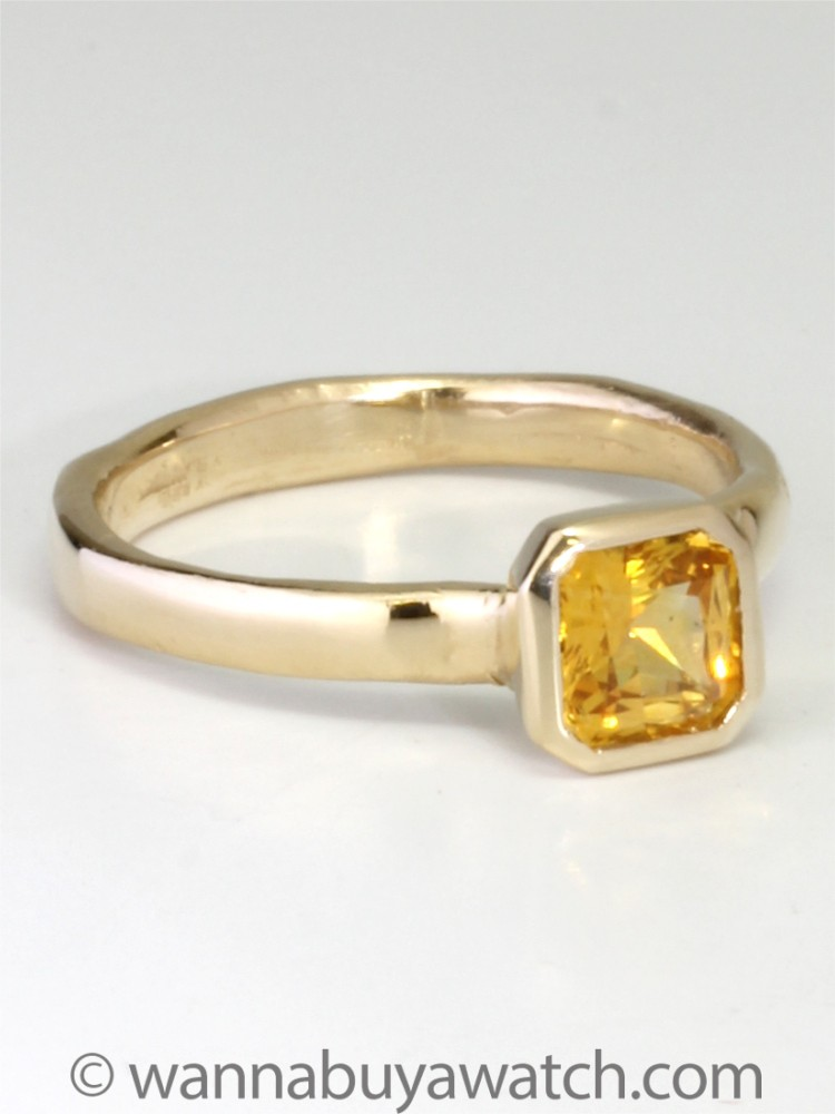 14K Gold & Yellow Sapphire Ring by Liza S.