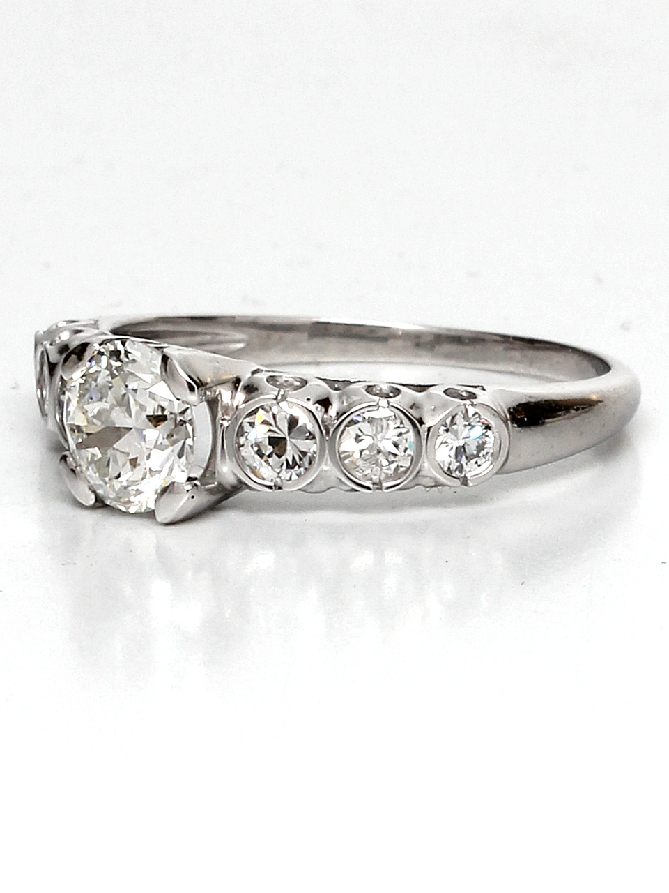 1940's Platinum & 0.72ct Old European Cut Diamond Solitaire