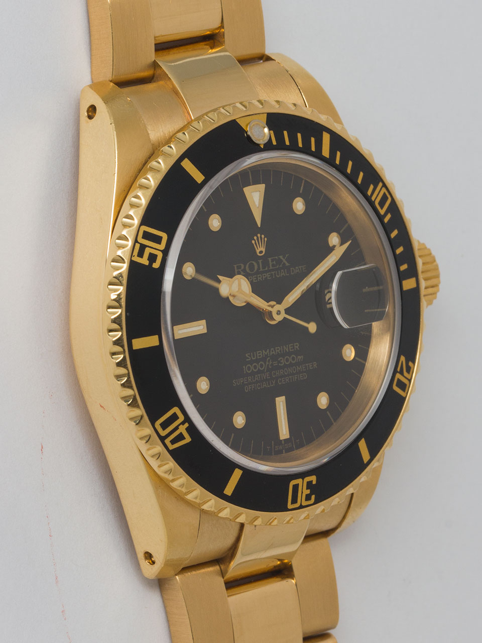 Rolex Submariner ref 16808 18K YG Transitional model circa 1983