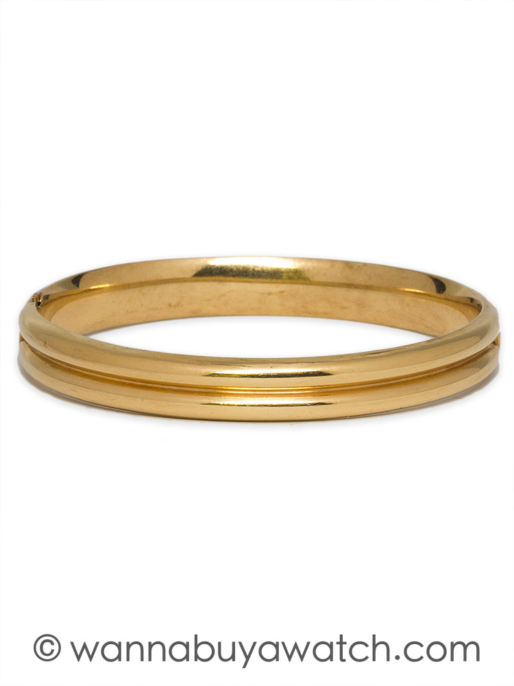 14K YG HInged Bangle Bracelet circa 1960's