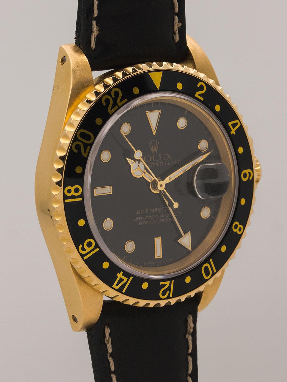 Rolex GMT 18K YG ref 16718 circa 1988
