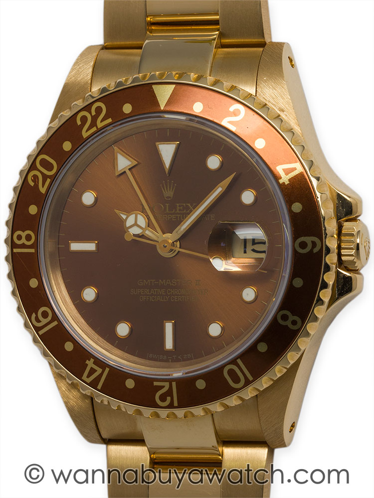 Rolex 18K YG GMT ref 16718 Minty B & P 1991