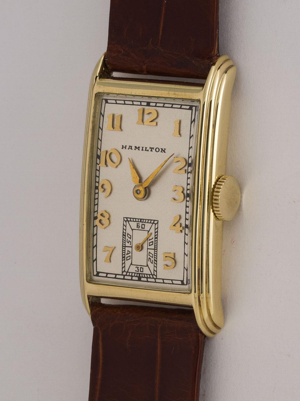 """Hamilton 14K YG """"Sherwood"""" circa 1938"""