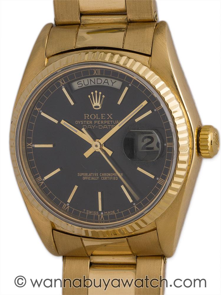 Rolex 18K YG Day Date ref 18078 circa 1979