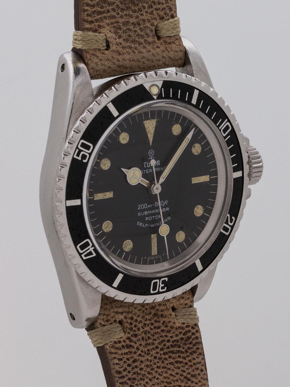 Tudor ref 7928 Submariner Stainless Steel circa 1967