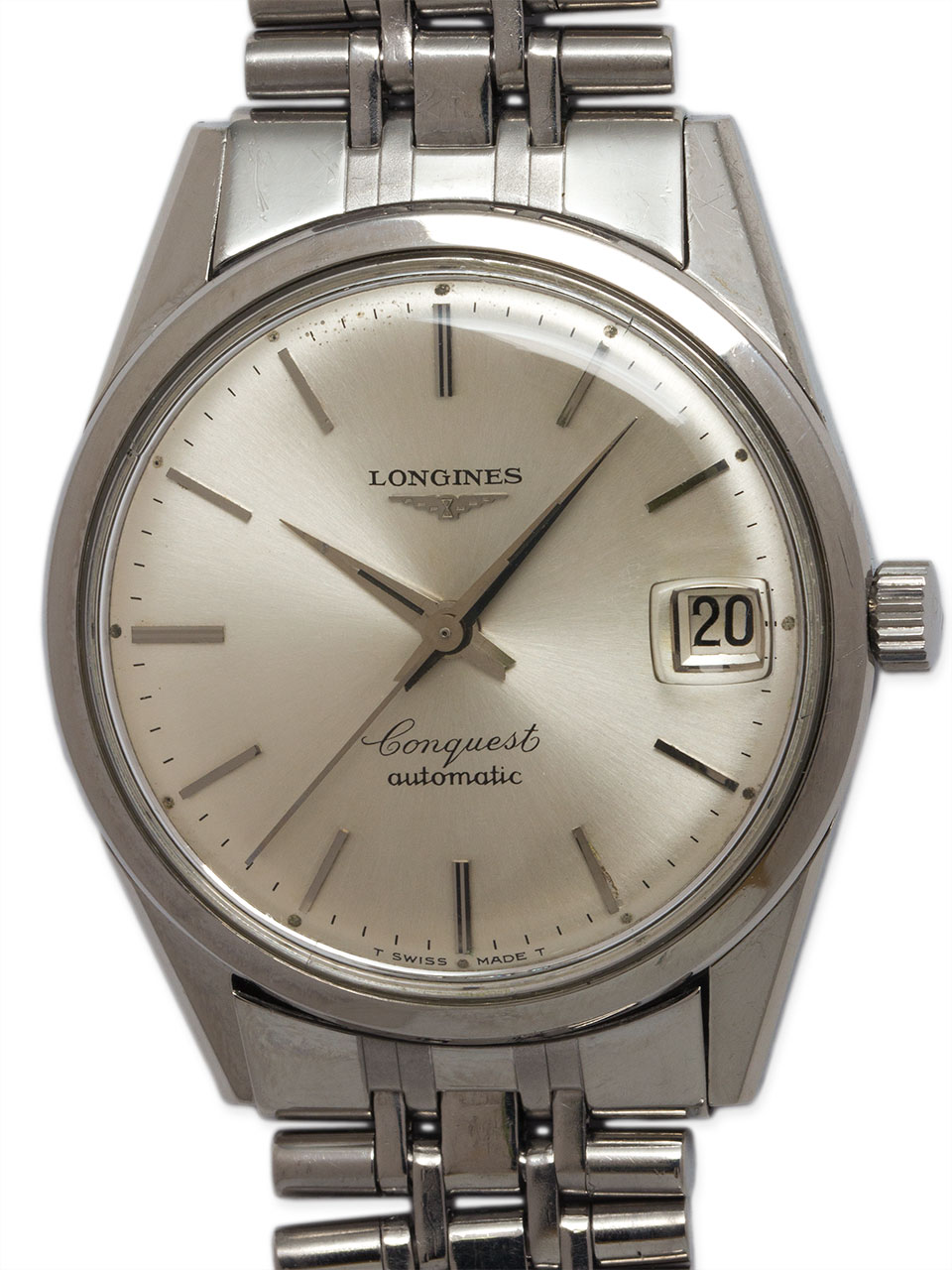 Longines Conquest Automatic Stainless Steel circa late 1960's