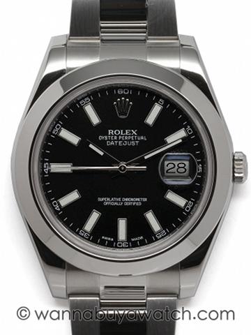 Rolex SS Datejust ll ref# 116300 circa 2014
