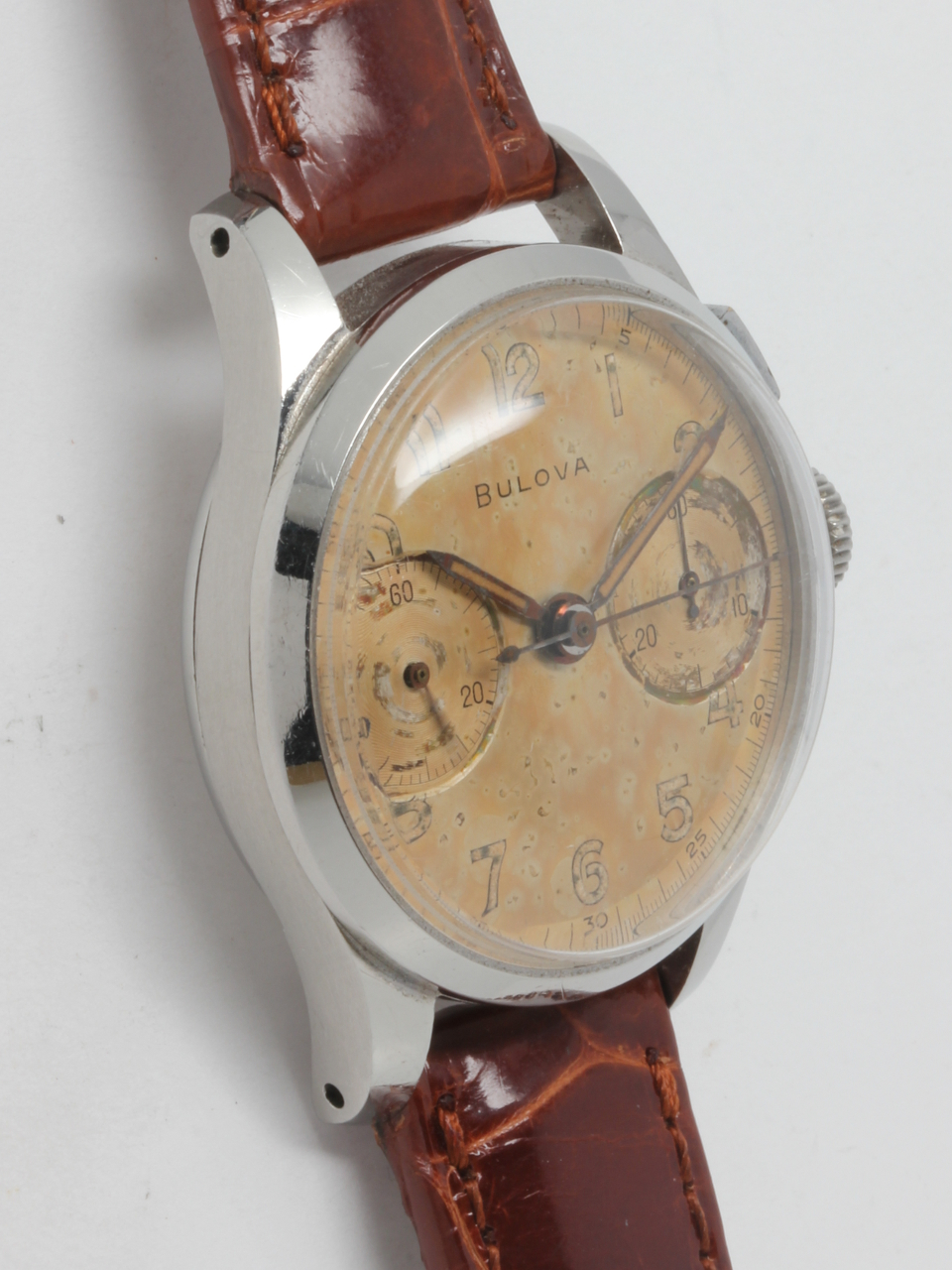 Bulova 2 Registers Chronograph 1940's