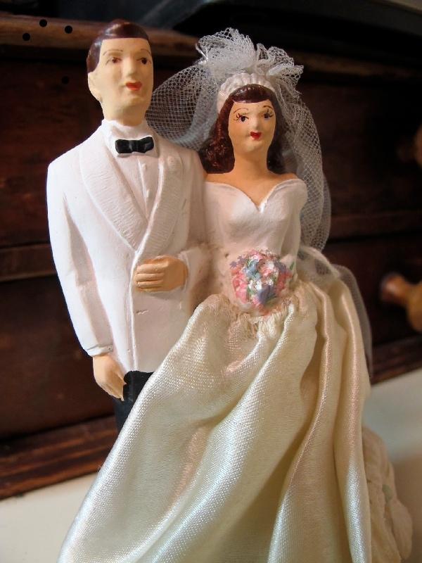 Wedding Cake Topper circa 1950s