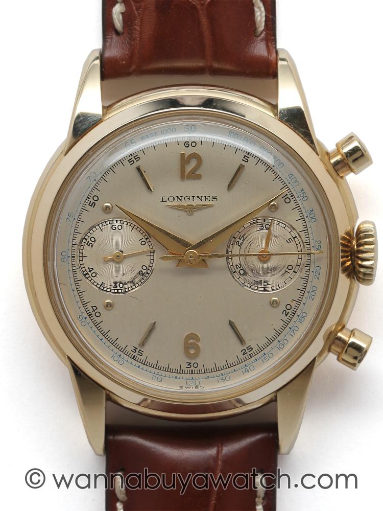 Longines Chronograph 30 CH Calibre 14K YG circa 1950