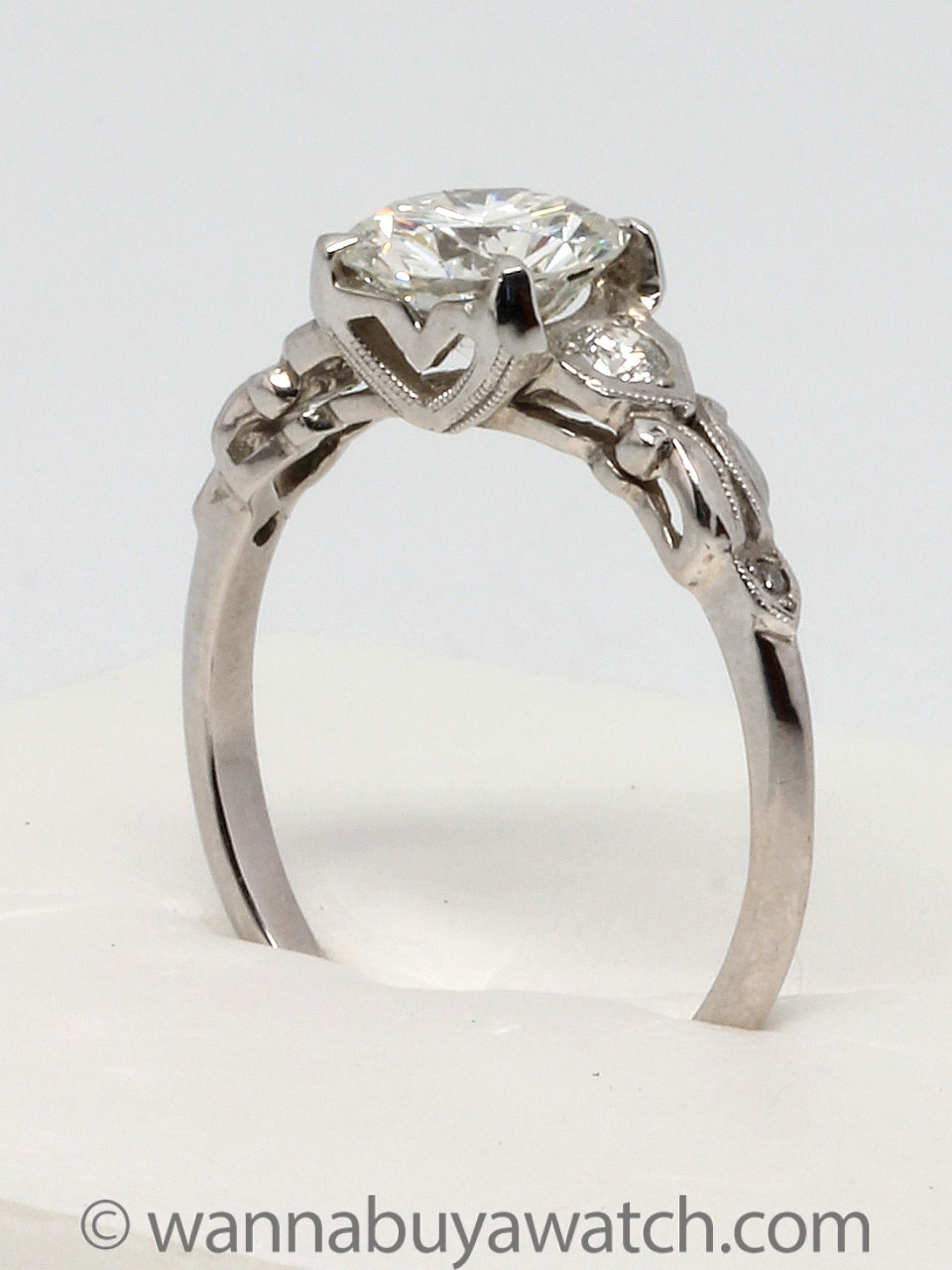 Platinum 1.17ct RBC Diamond